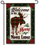 Merry Moose Garden Flag