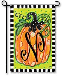 Dotted Pumpkin Monogram
