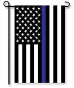 Thin Blue Line Applique Garden Flag