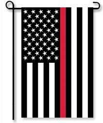 Thin Red Line Applique Garden Flag