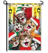 Christmas Cats Garden Flag