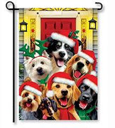 Christmas Dogs Garden Flag