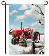 Red Tractor Garden Flag