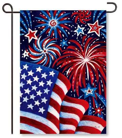 Fireworks & Flags Garden Flag