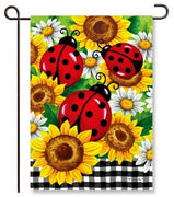 Sunflower Ladybugs Garden Flag