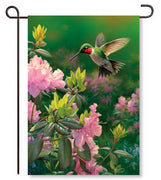 Hovering Hummingbird Garden Flag