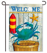Crab Basket Garden Flag