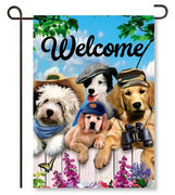 Dapper Dogs Garden Flags