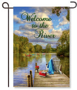 River Dock Garden Flag