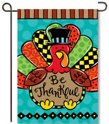 Whimsy Turkey Garden Flag