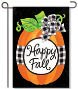 Gingham Pumpkin Garden Flag