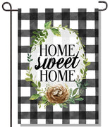Gingham Home Garden Flag