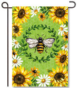 Bumblebees & Sunflowers Garden Flag