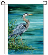 Blue Heron Garden Flag