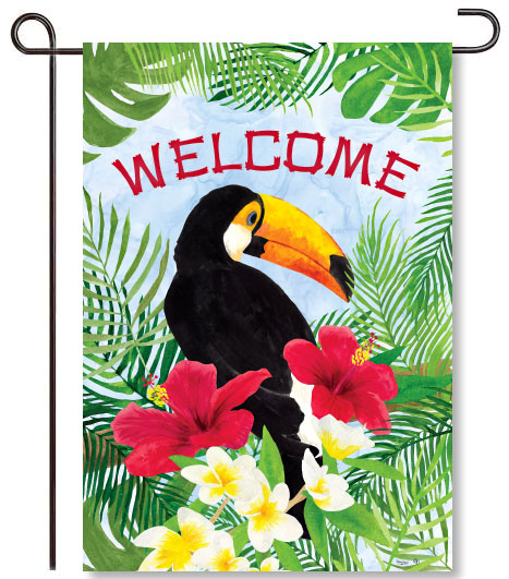 Tropical Toucan Garden Flag