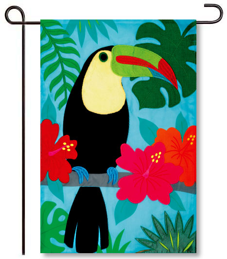 Toucan Applique Garden Flag