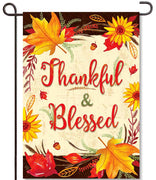 Fall Thankful & Blessed Garden Flag