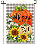 Pumpkins & Cotton Garden Flag