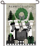 Christmas Mantel Garden Flag