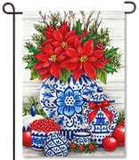 Blue & White Christmas Garden Flag