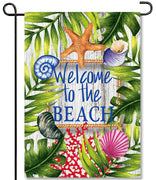 Beach Welcome Garden Flag