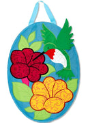 Hummingbird Flower Door Hanger