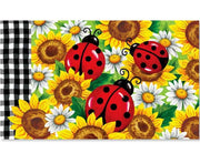 Sunflower Ladybugs Door Mat