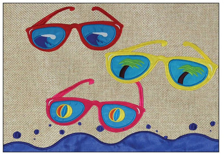 Cool Shades Burlap Windsock