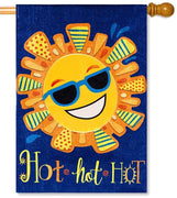 Hot Hot Hot Sun House Flag
