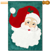 Jolly St. Nick Applique House Flag