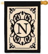 "Cambridge Monogram  ""N"" Applique House Flag"