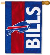 Buffalo Bills Applique House Flag