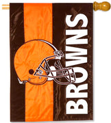 Cleveland Browns Applique House Flag
