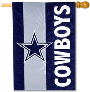 Dallas Cowboys Applique House Flag