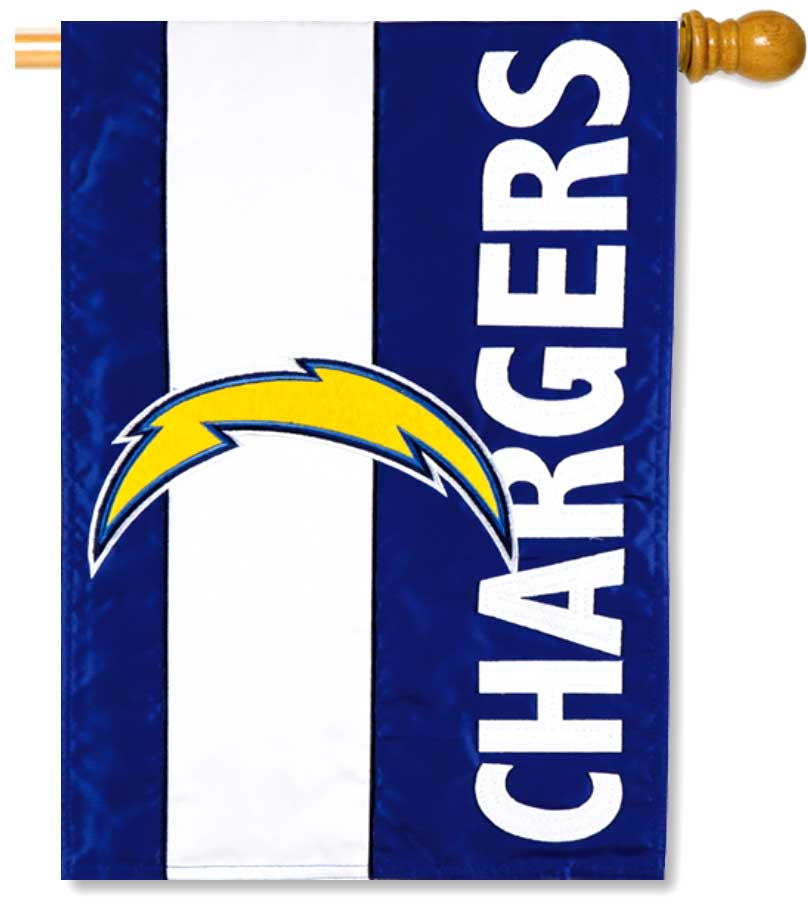 Los Angeles Chargers Applique House Flag