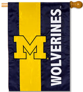 University of Michigan Applique House Flag
