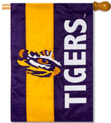Louisiana State University Applique House Flag