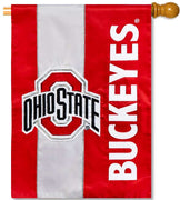 Ohio State University Applique House Flag