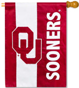 University of Oklahoma Applique House Flag