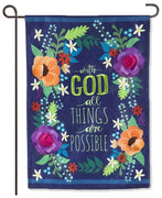 All Things are Possible Burlap Garden Flag