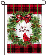 Cardinal Wreath Garden Flag