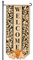 Swirl Welcome Garden Banner
