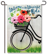 Wonderful Ride Linen Garden Flag