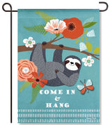 Hanging Sloth Garden Flag
