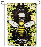 Bee Happy Queen Bee Garden Flag