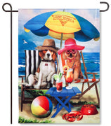 Beach Dogs Garden Flag