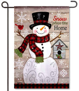 Snow Place Like Home Textured Garden Flag