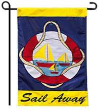 Sail Away Garden Flag