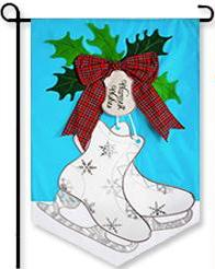 Winter Skates Garden Flag