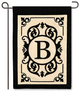 "Cambridge Monogram ""B"" Applique Garden Flag"